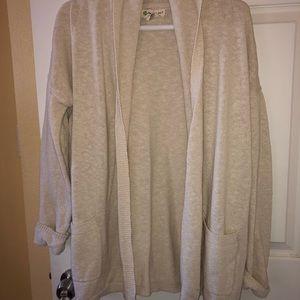 Dakini oversized open front shawl style cardigan